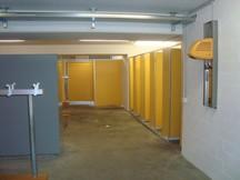 Garderobe mit Umkleidekabine